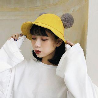 Faux Fur Animal Ear Bucket Hat