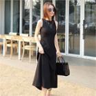 Sleeveless A-line Long Dress