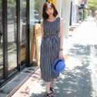 Sleeveless Striped Dress Multicolor - One Size