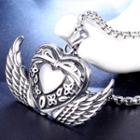 Heart Wings Pendant Without Chain - Pendant - Silver - One Size