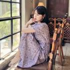 Surplice-wrap Maxi Floral Dress