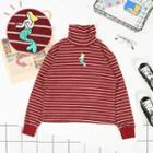 Turtleneck Striped Mermaid Sweatshirt