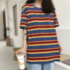 Short-sleeve Striped T-shirt Stripes - Multicolour - One Size