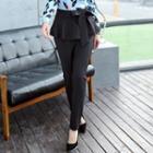 Tie-waist Layered Slim Fit Pants