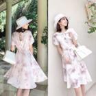 Set: Top / Sleeveless Dress / Short-sleeve Dress / Sleeveless Dress