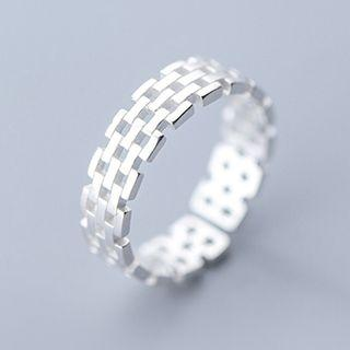 925 Sterling Silver Perforated Ring As Shown In Figure - One Size
