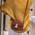 Buckled Flap Crossbody Bag