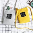 Canvas Lettering Mini Tote
