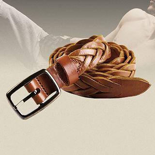 Genuine Leather Woven Belt