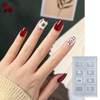 Silicone Diy Mahjong Nail Art Mold