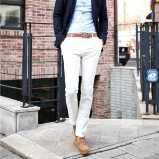 Colored Slim-fit Pants