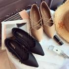 Cross Strap Pointed Flats