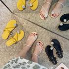 Toe Loop Rhinestone Sandals
