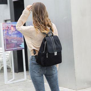 Waterproof Zipper Backpack Black - One Size