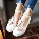 Rabbit Ankle Strap Pumps