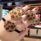 Leopard Print Disc Hair Tie