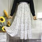 Floral Print Chiffon Layered Skirt