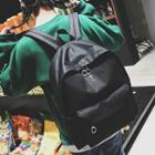 Cross Embroidered Backpack