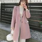 Single Button Houndstooth Coat