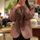 Plain Coat Coat - Grape Purple - One Size