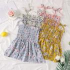 Sleeveless Ribbon-strap Floral Top