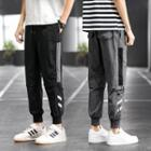 Contrast Panel Cropped Harem Pants