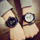 Couple Matching Lettering Strap Watch