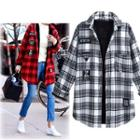 Applique Plaid Long Shirt