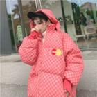 Pattern Padded Jacket With Hood