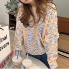 Melange Sweater Blue & Yellow - One Size
