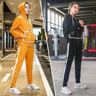 Set: Hooded Zip Sport Jacket + Jogger Pants