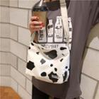 Canvas Dairy Pattern Crossbody Bag