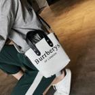 Mini Hand Bag With Lettering Strap