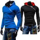 Side-zip Hooded Top
