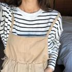 Ribbed Stripe Boxy-fit Top