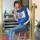Appliqu  Sleeveless T-shirt