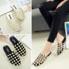 Faux-pearl Cutout Sandals