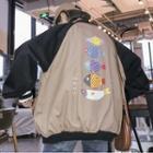Fish Print Zip Jacket