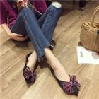 Pointed Bow-accent Flats
