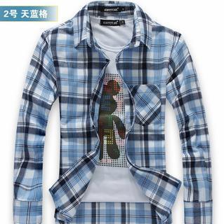 Pocket-front Plaid Shirt