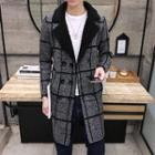 Window Pane Long Knit Coat