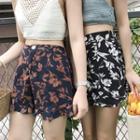 Floral Print High Waist Shorts