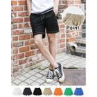 Drawstring-waist Colored Shorts