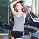 Tipped Padded Sports Tank Top