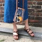Cross-strap Perforated Sandals