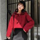 Set: Plain Hoodie + Knit Midi Skirt