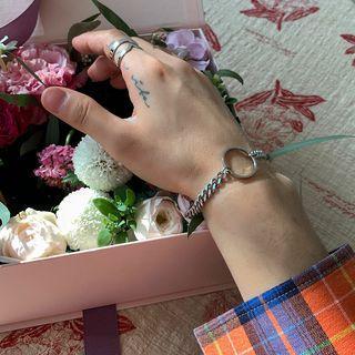 Hoop Chunky Bracelet Silver - One Size