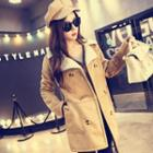 Double-breasted Faux Shearling Coat