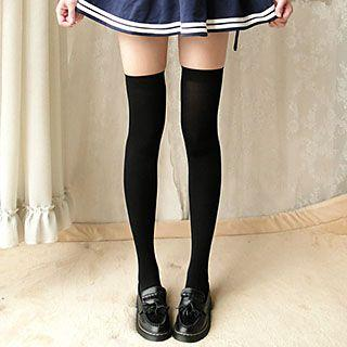 Ribbed Over-the-knee Stockings