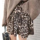 Frill-trim Leopard Miniskirt